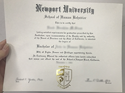 How Long to Get Newport University Fake Diploma