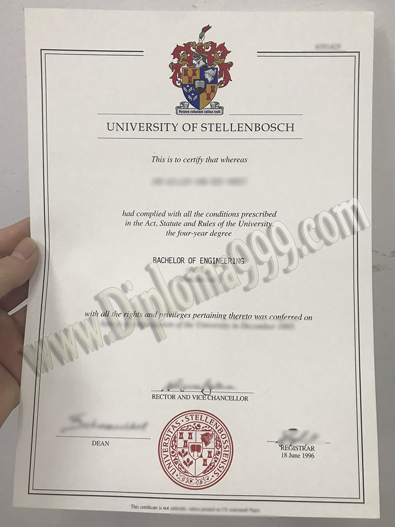 Are You Worried About University of Stellenbosch Fake Diploma