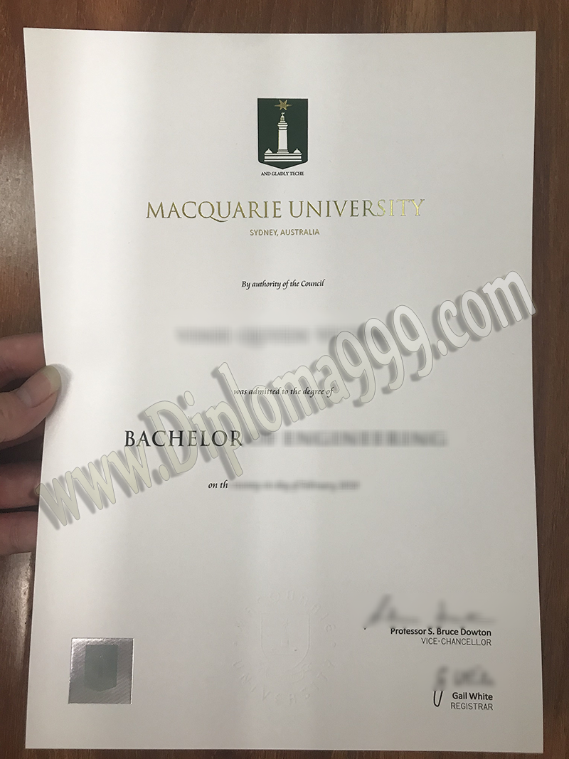 How Will You Use a Fake Macquarie University Diploma Certificate
