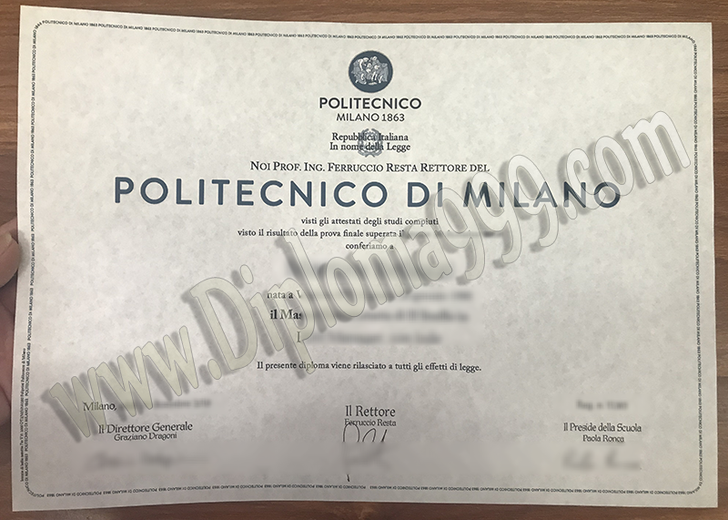 The Best Site to Get Your Fake Politecnico di Milano Diploma