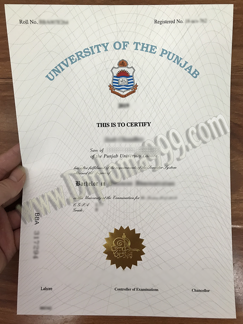 How Fast Can I Get A Fake University of the Punjab Diploma Certificate?