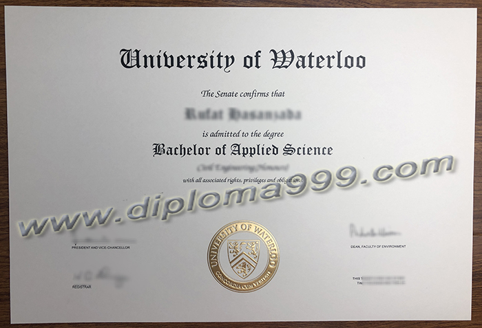 How To Order a University of Waterloo Fake Diploma/Fake Transcript Online In Canada?