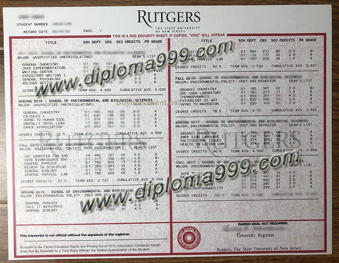 How To Get Rutgers University Transcript? Fake Transcript.