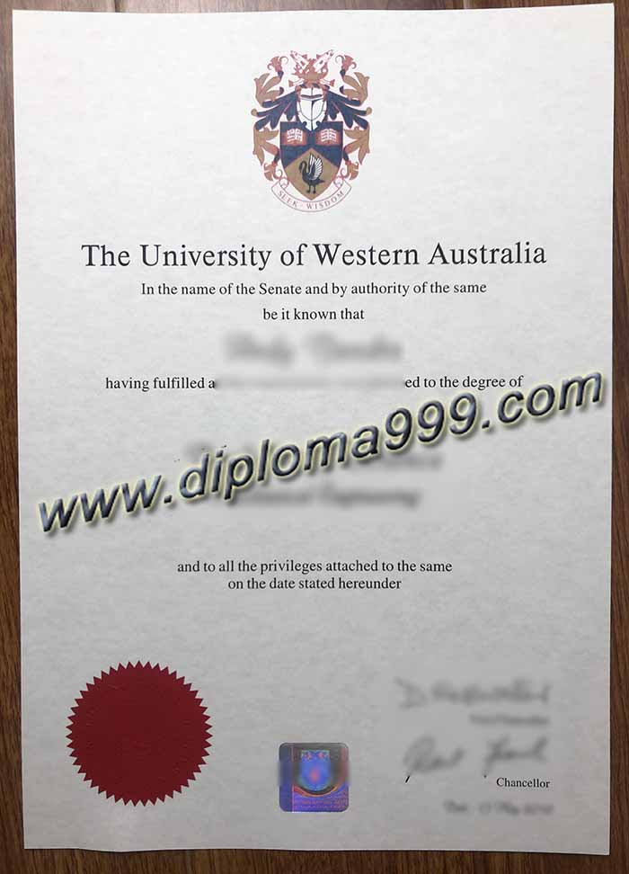 Congratulations On Your Degree Certificate From The University of Western Australia(UWA).