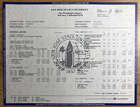 Where Can I Buy A Fake Transcript From San Jose State University? SJSU Transcript.