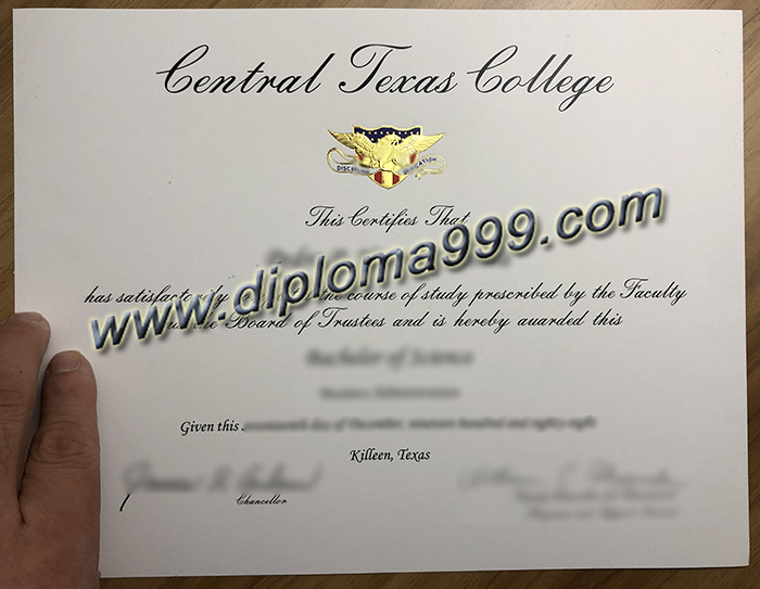 How To Duplicate The Central Texas College Diploma Certificate? CTC Diploma.