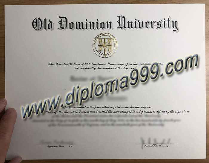 Where Can I Buy  A Fake Degree From The Old Dominion University? ODU Diploma.
