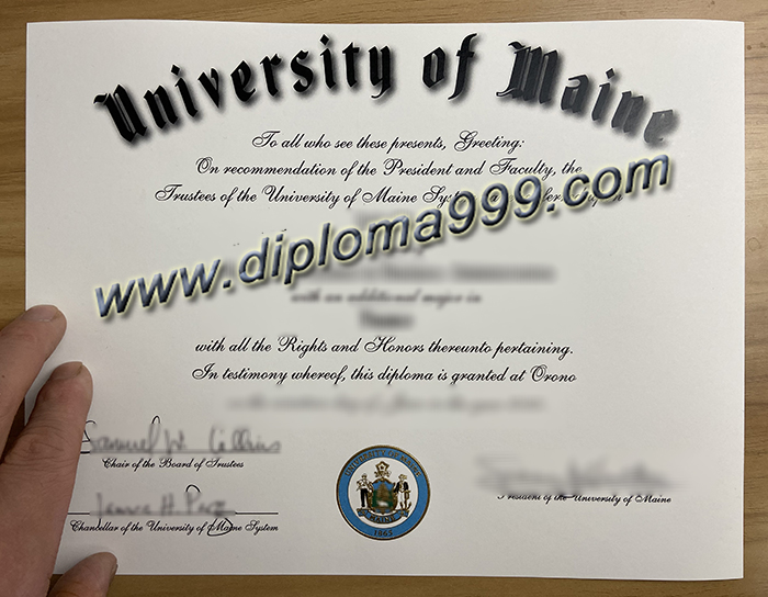 How About the University of Maine? Buy the UMaine Diploma Certificate Online.