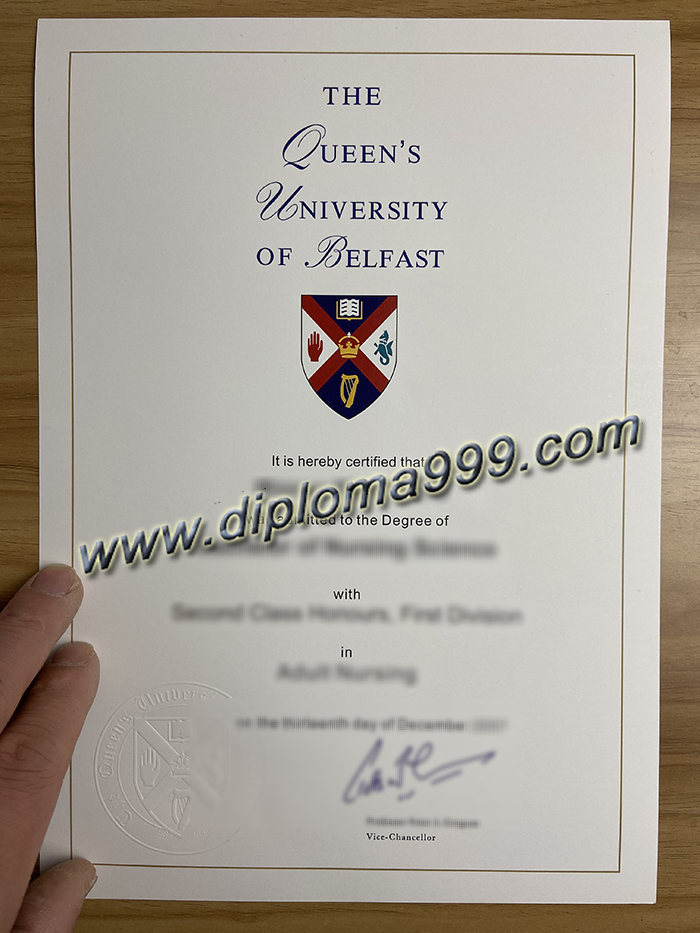 Buy Fake Queen's University Belfast Diploma and transcript Online. QUB Diploma.