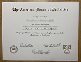 How to Buy A Fake American Board of Pediatrics (ABP) Certificate?