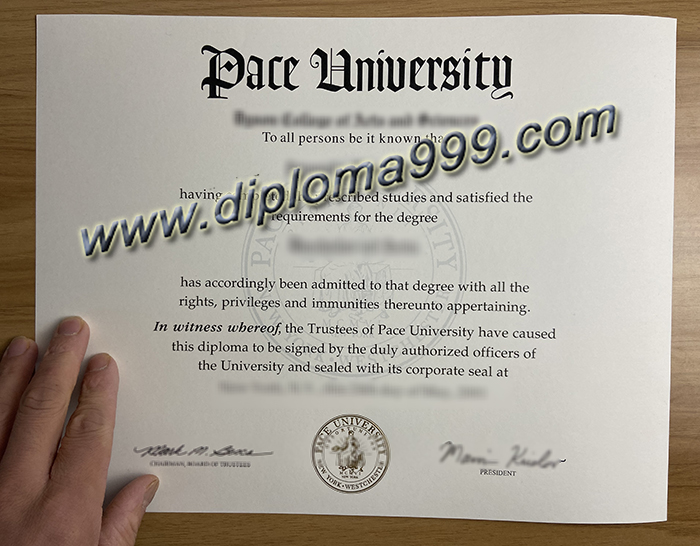 Apply for A Pace University Diploma Certificate.