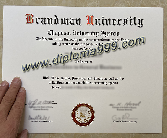 How to Quickly Obtain the Brandman University Diploma Certificate?