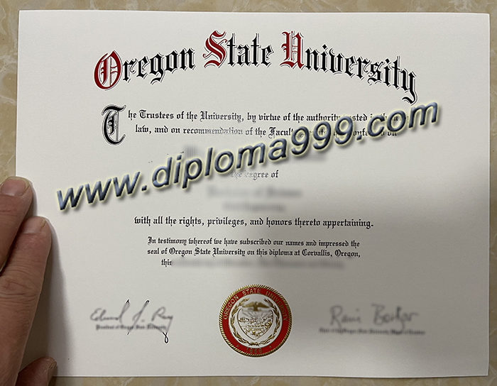 How Much Does It Cost to Fake An Oregon State University (OSU) Diploma Certificate?