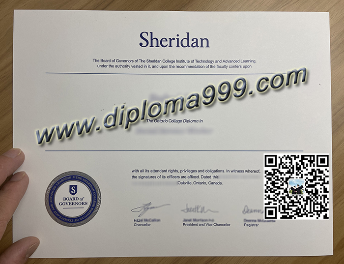How Much to Order A Sheridan College Diploma Certificate?