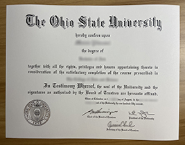 How Much Does It Cost to Forge An Ohio State University Diploma Certificate? OSU Degree.