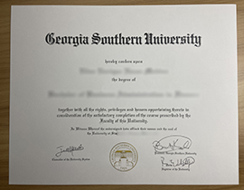 How much is a customized Georgia Southern University degree certificate?GSU Diploma.