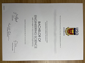 The University of Southern Queensland Diploma. USQ Degree Certificate.